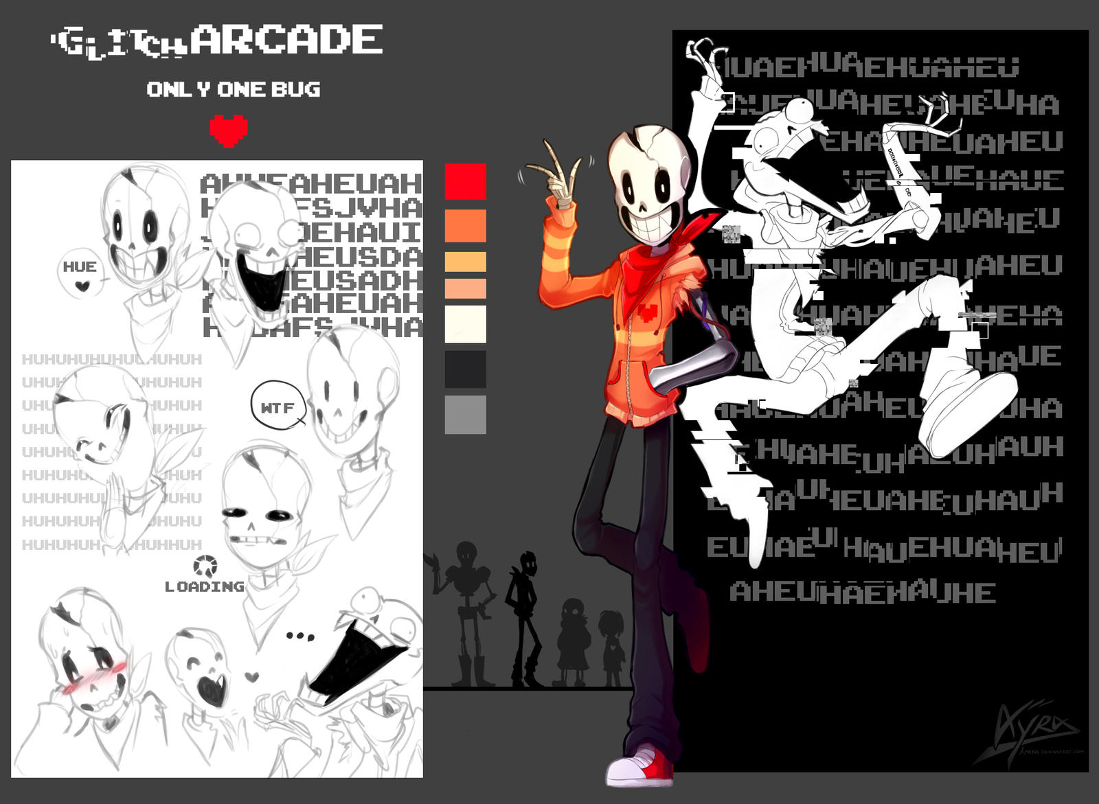 undertale oc   glitcharcade by ayraa on deviantart