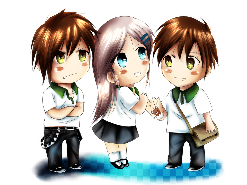 Chibi collection Syncfeel: Dash, Amelie y Di by KazeGonzalez