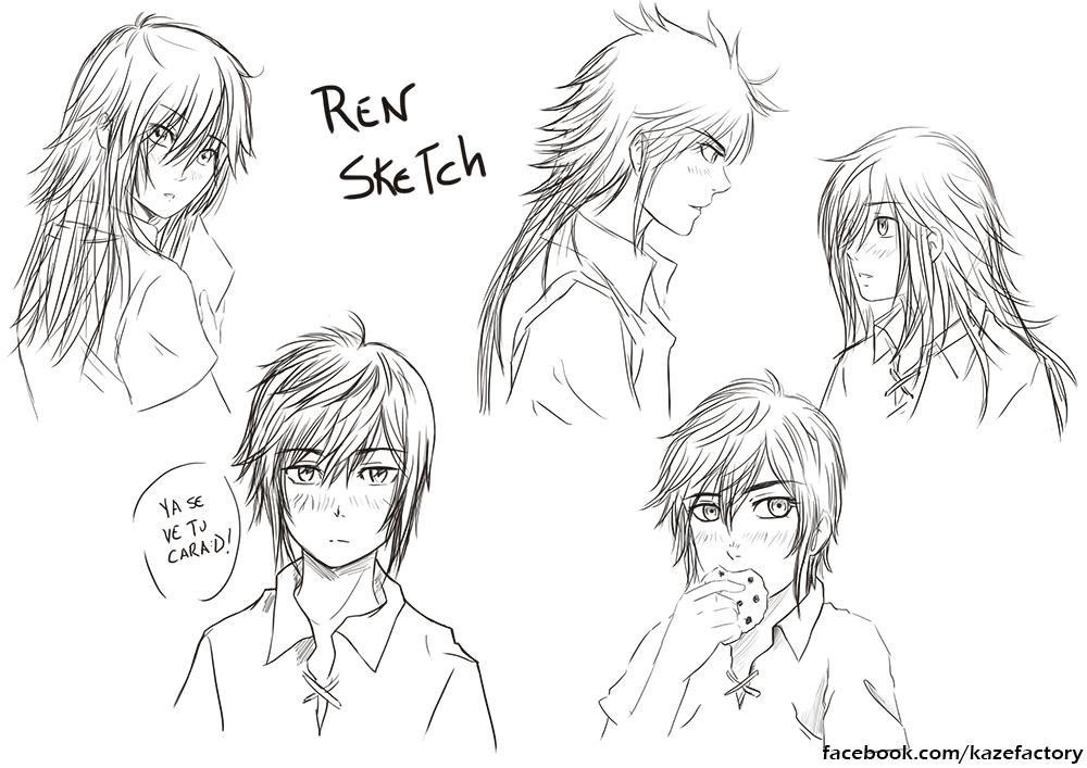 Ren sketch by KazeGonzalez