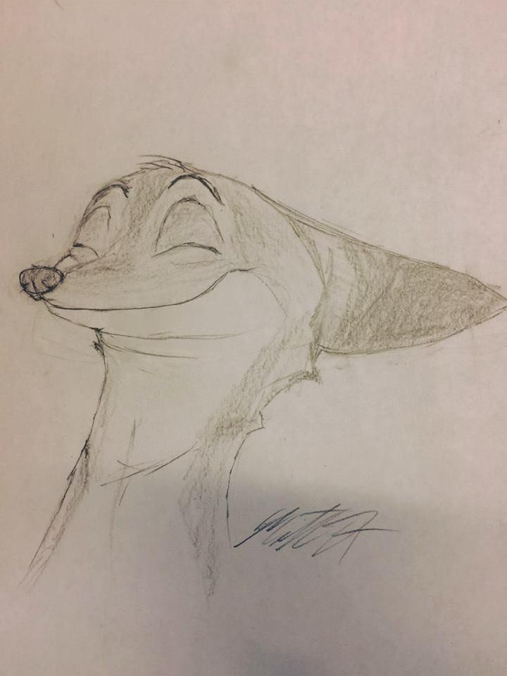 Nick Wilde Sketch2 by BurtanTae