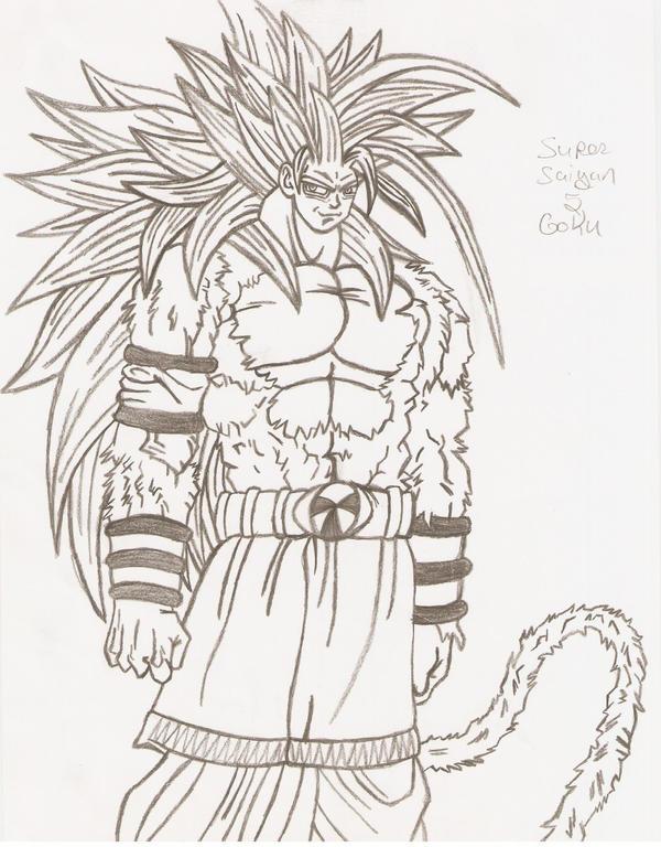 Super Saiyan 5 Goku By Kiro06 On Deviantart