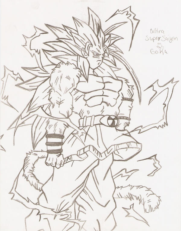 Super Saiyan 5 Goku 2 By Kiro06 On Deviantart