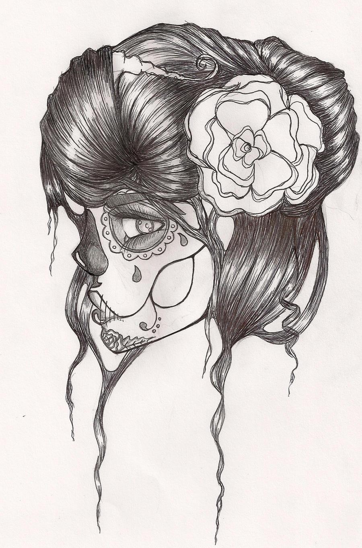Beautiful Sugar Skulls Drawings Sugar Skull by AkiruVII