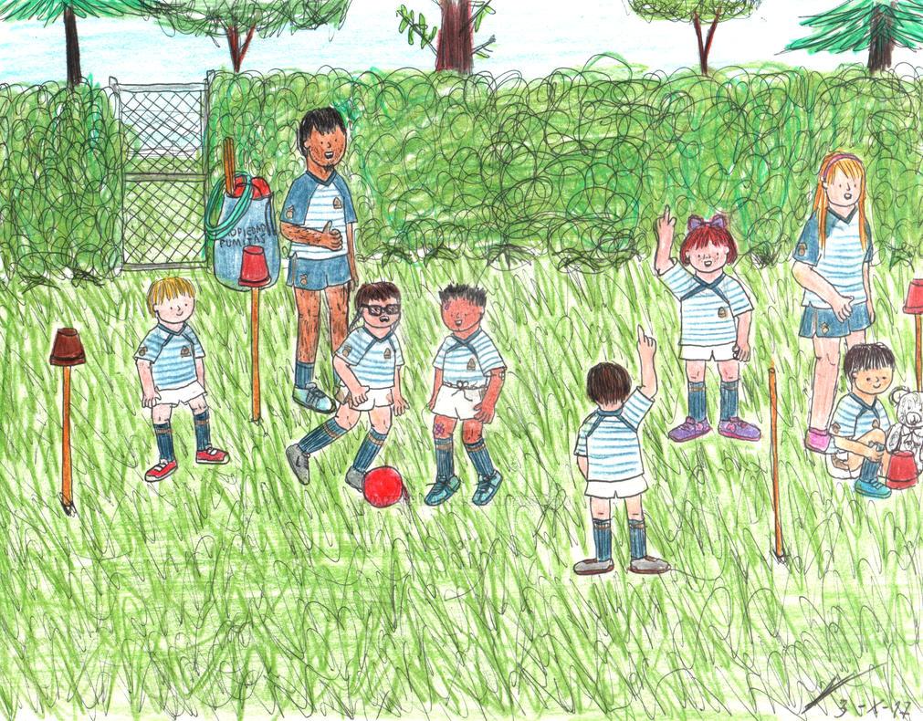 An informal soccer game by JamesPumita