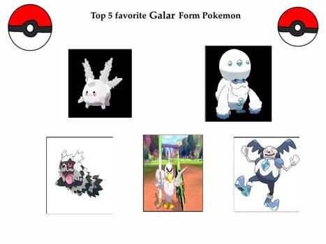 my top 10 favorite galar form pokemon