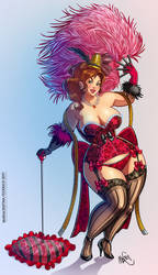 pin up  curvy burlesque by marycry83
