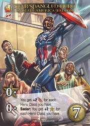 card for Upper Deck  Capitan America Falcon by marycry83