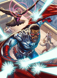 card 03 for Upper Deck  Capitan America Falcon by marycry83