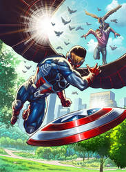 card 04 for Upper Deck  Capitan America Falcon by marycry83