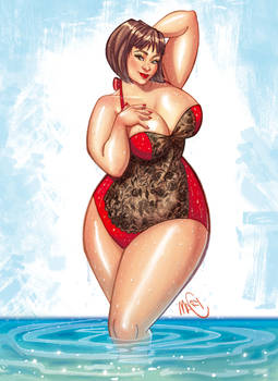 curvy summer  commission from italy