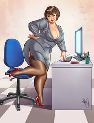 Pin up commission from italy by marycry83