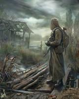 Stalker leaves the swamp ... by Bobrbor