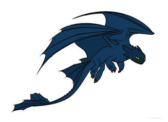 HTTYD - Toothless Colored