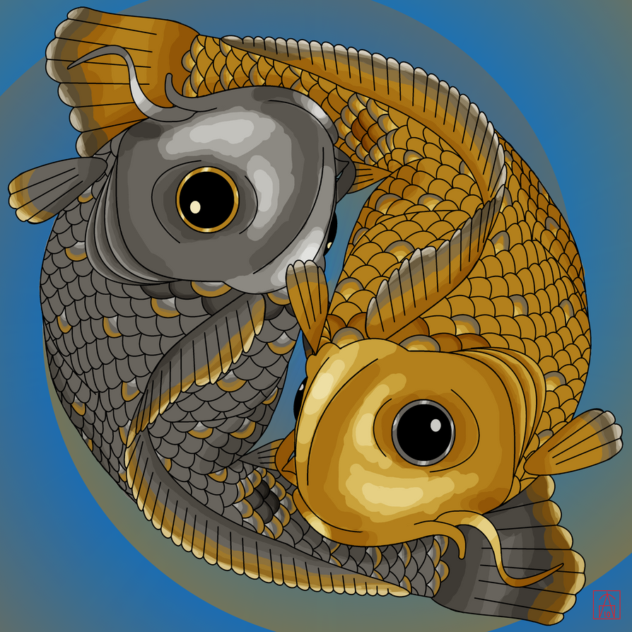 Yin and yang koi by perceptorprime on deviantart for Koi yin yang