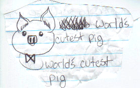 World's Cutest Pig by FishesbeFishes