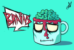 Good Ol' Zombie Mug of Brains