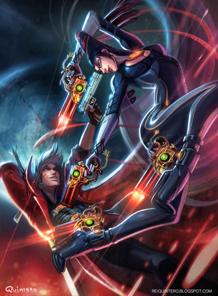Bayonetta VS Dante by ReiQuintero
