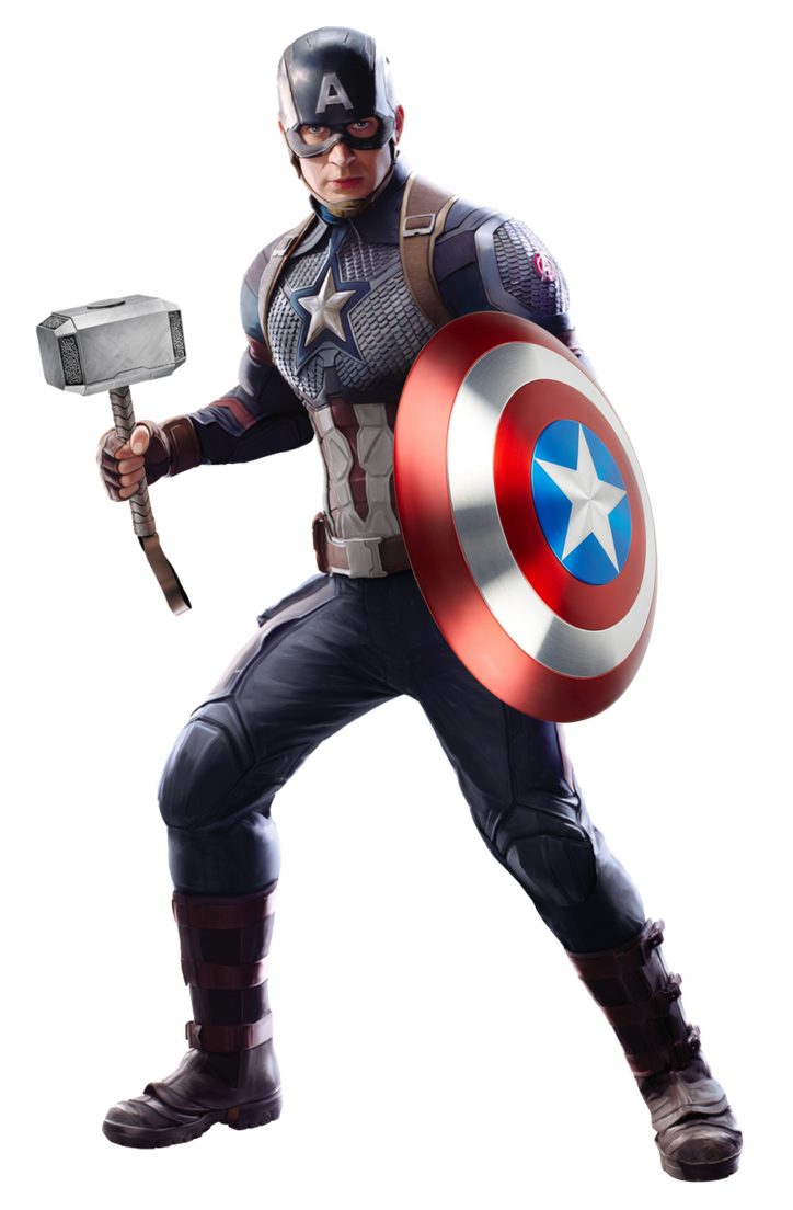 Worthy Captain America Png Avengers Endgame By Gojinerd1999 On