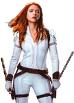 Black Widow (2020) white suit ver. #2 - PNG