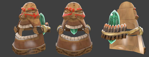TF2 Hat: Heavy Tiki Mask by Blvd--Nights