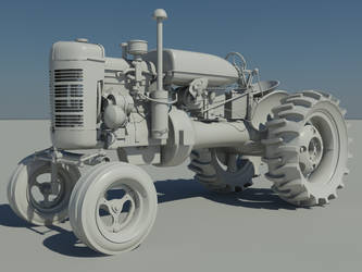 Old Tractor High Poly by Blvd--Nights