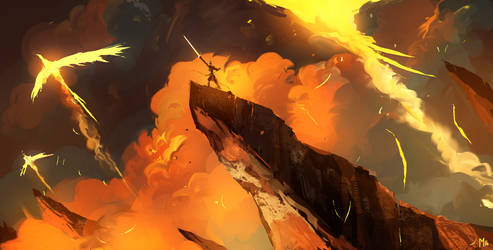 Flaming sword by DominikMayer