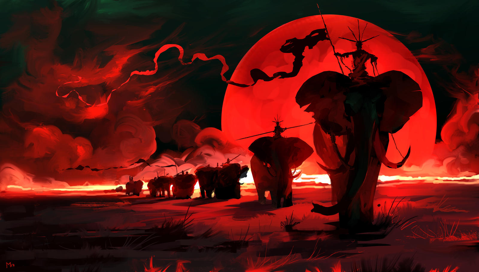 Red Moon by DominikMayer