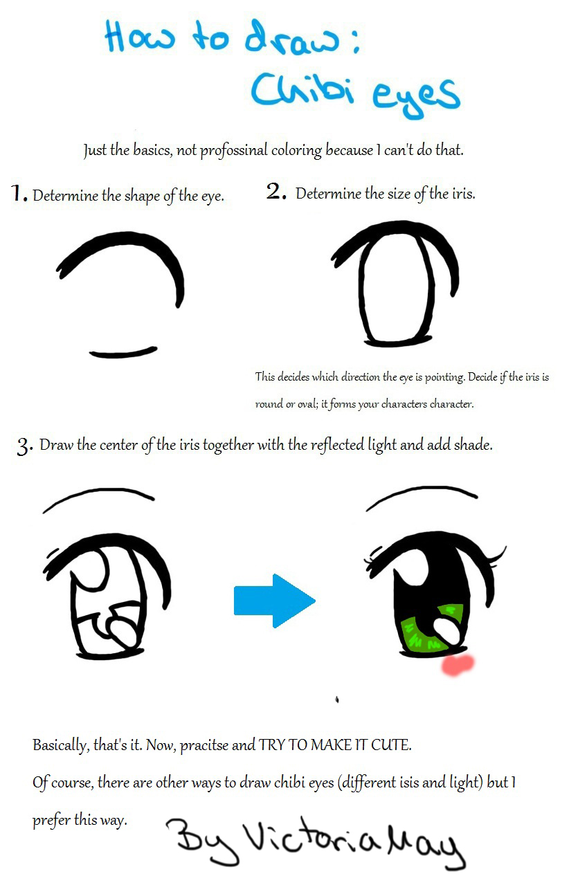 How to draw chibi eye by victoriamay on deviantart for How to draw a cute girl easy