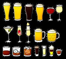 Free - Basic Drinks Coloured by Gormstar
