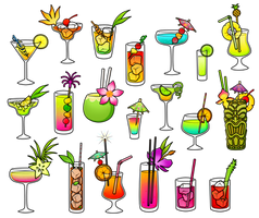 Free - Fruity Cocktails Coloured by Gormstar