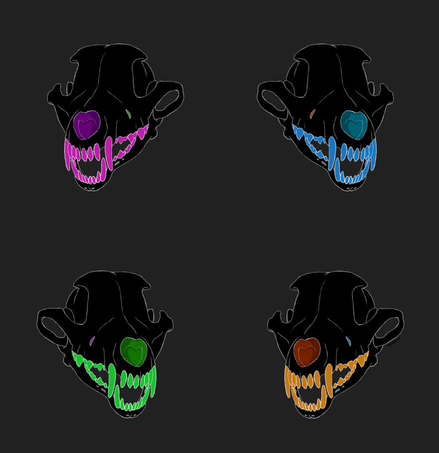 Skulls by Hallamo-H