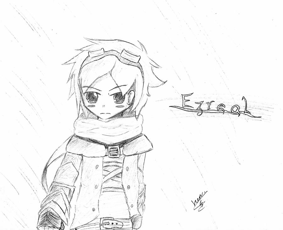 Ezreal Lol Drawing Ezreal Drawing League of