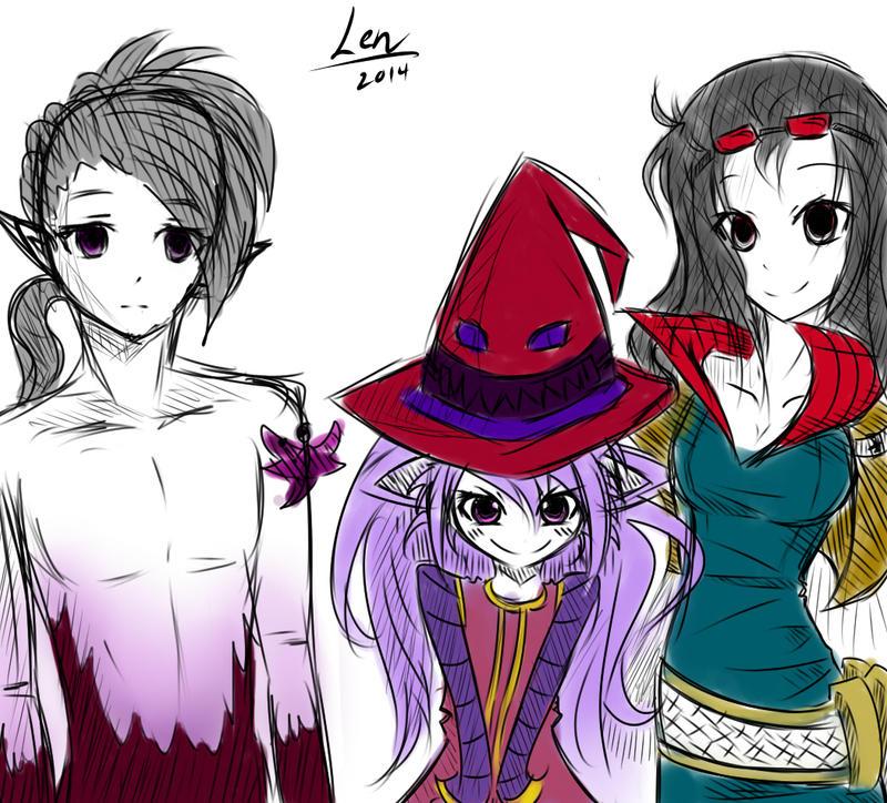 Varus And Lulu Varus Lulu Vayne Sketc...