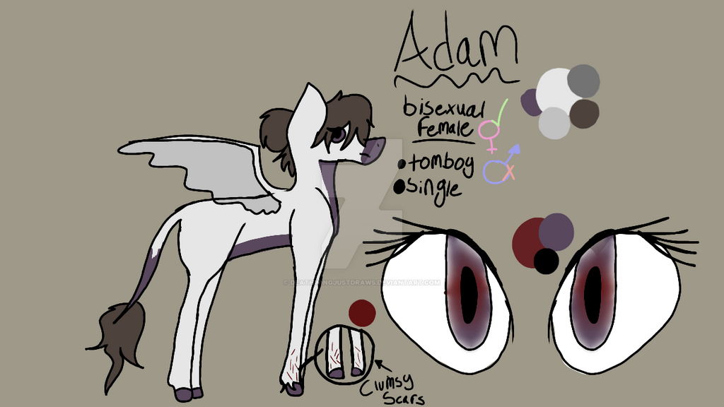 Ponysona Ref - Adam by DeathwingJustDraws