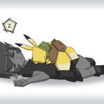 Hero Nap by WhiteFoxCub