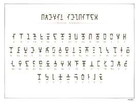 Hylian Alphabet by IJKelly