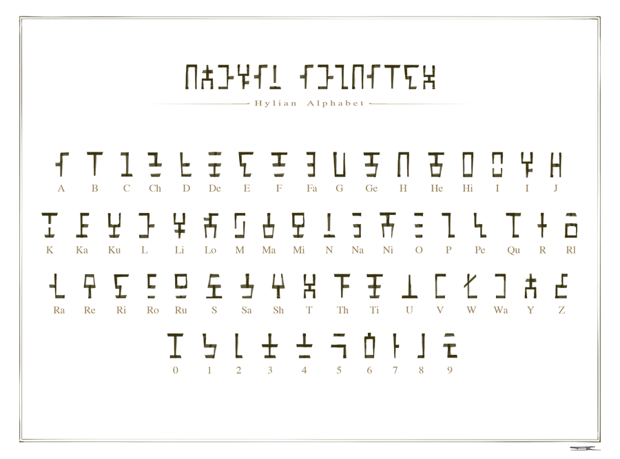 Hylian Alphabet By Ijkelly On Deviantart