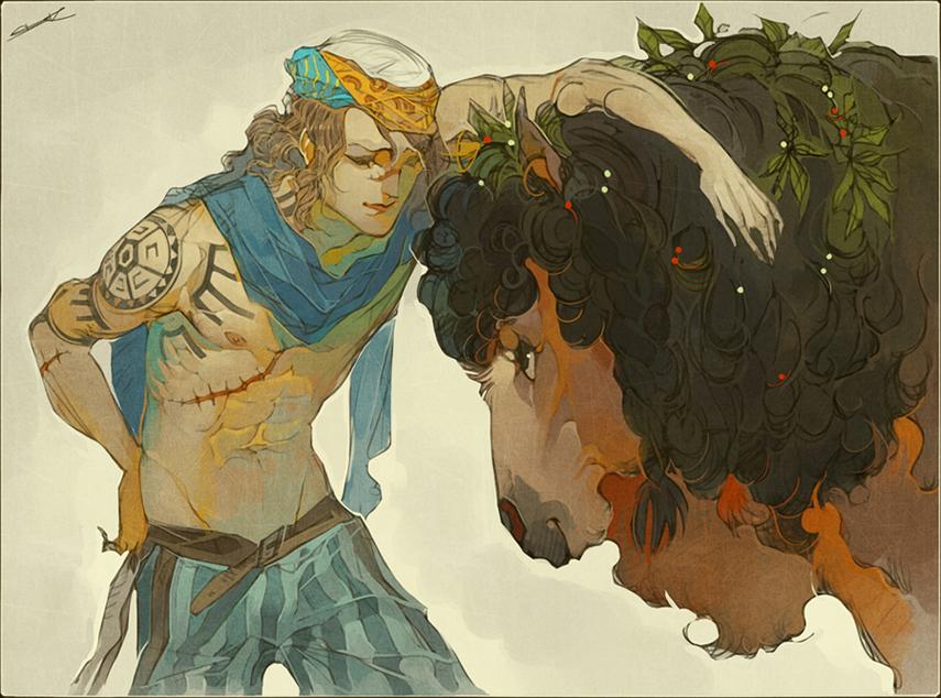 Commission - Joran + Bough by WhiteFoxCub