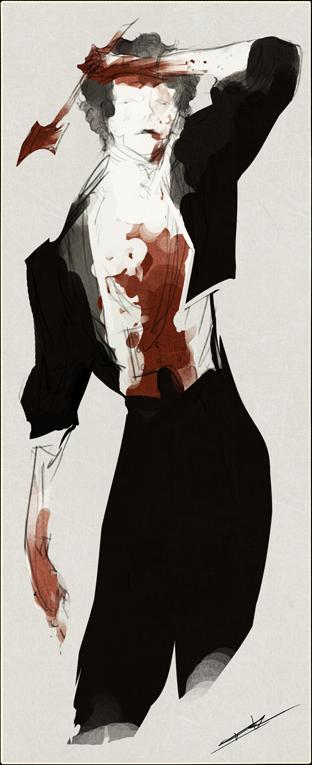 Crudely Drawn Tristan by WhiteFoxCub