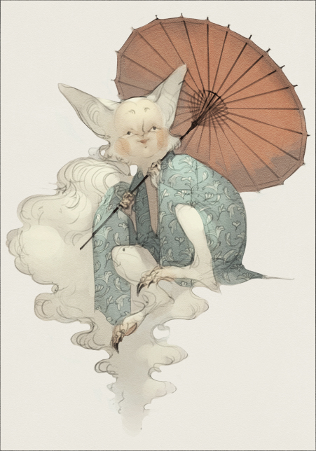 Custom Adoptable - Kitsune by WhiteFoxCub