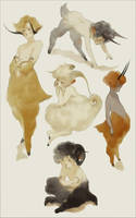 [CLOSED] Adoptables - Fauns (Auction) by IJKelly