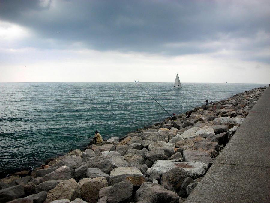 8.04.2012  Gulf of Salerno,Italia by chunkamunka