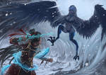 Condemning the Heavens: Ice harpy (Commission)