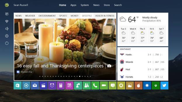 Windows 10 Start Screen XBOX version
