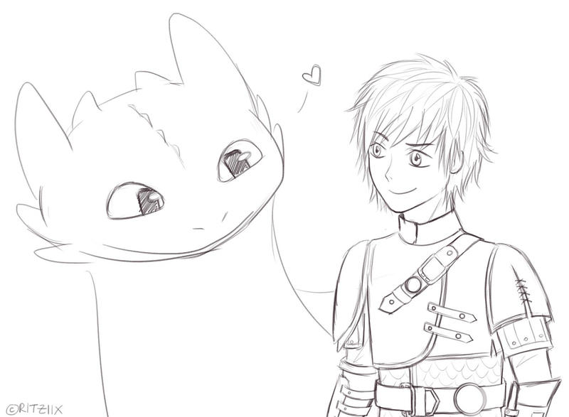 How to Train Your Dragon 2  Hiccup and Toothless by ritziix on