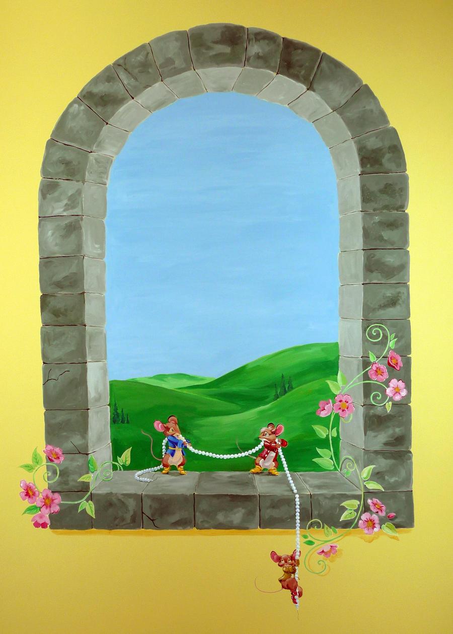 Mural castle window by shalladdrin on deviantart for Castle window mural
