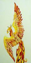 Phoenix - watercolor