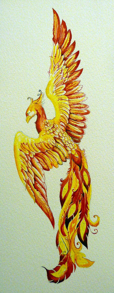Phoenix - watercolor by Shalladdrin