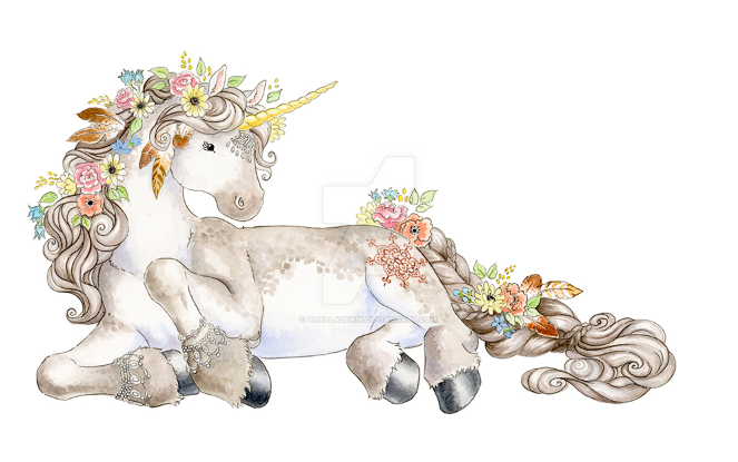 Boho unicorn by Shalladdrin