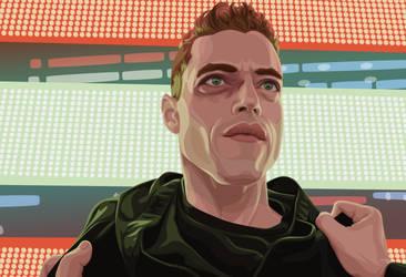Mr. Robot - Elliot in Times Square by RexPLuna